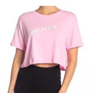 Pink Nike crop top active gym top